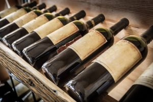 stored wine