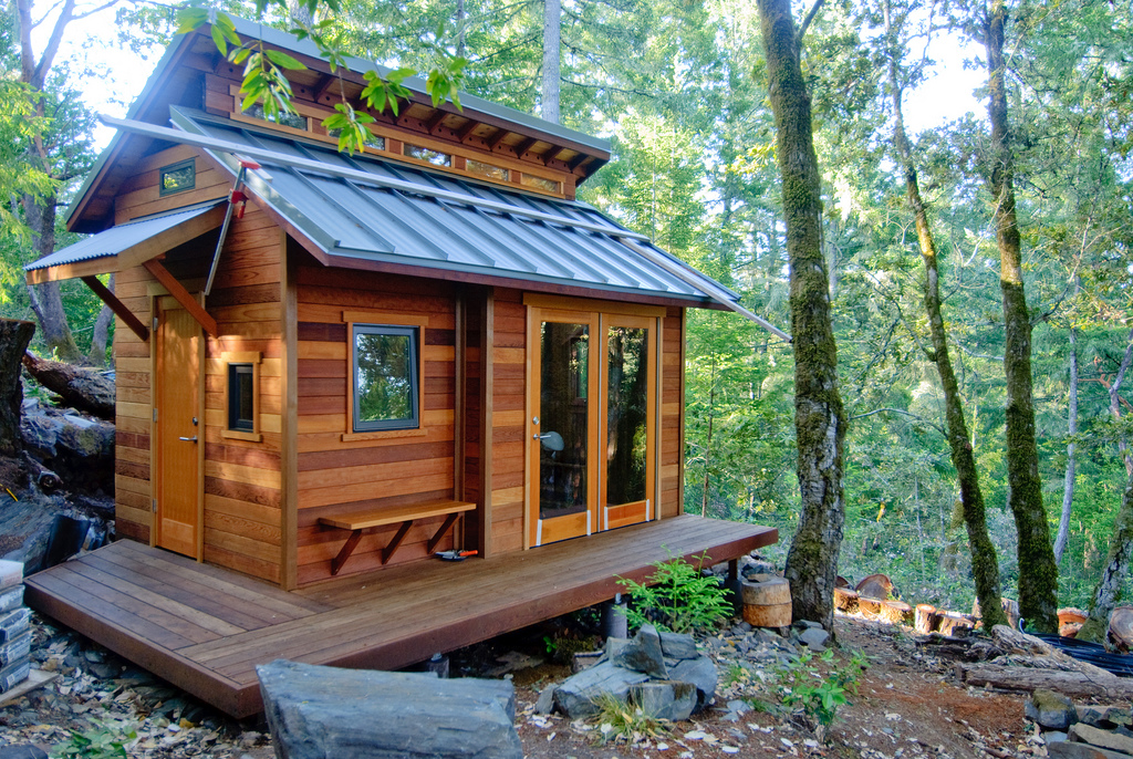 A tiny fantasy house in the woods