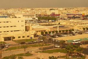 A view of Sepia Tone City