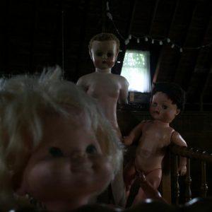Toys in creepy attic