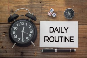 daily routine concept