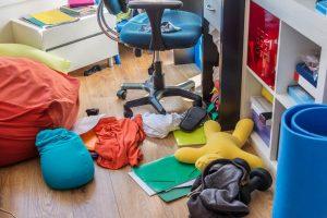 disorganized boys room