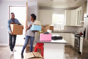 married black couple moving into first home