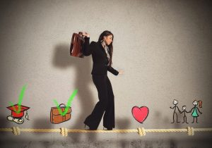 stages of work and life business woman