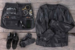 leather and other heavy clothes