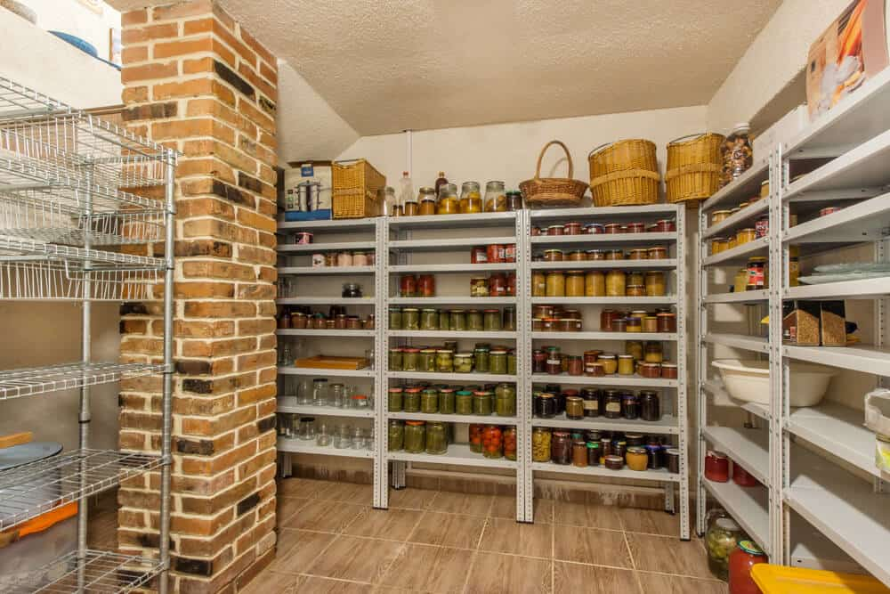 large canning pantry from converted room