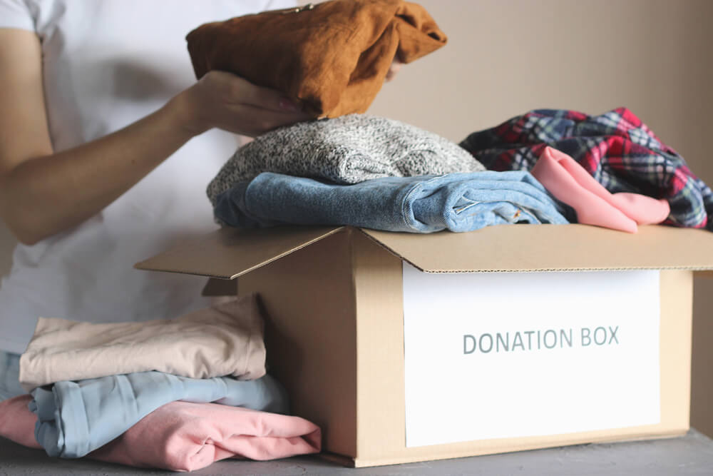 getting clothing ready for donation
