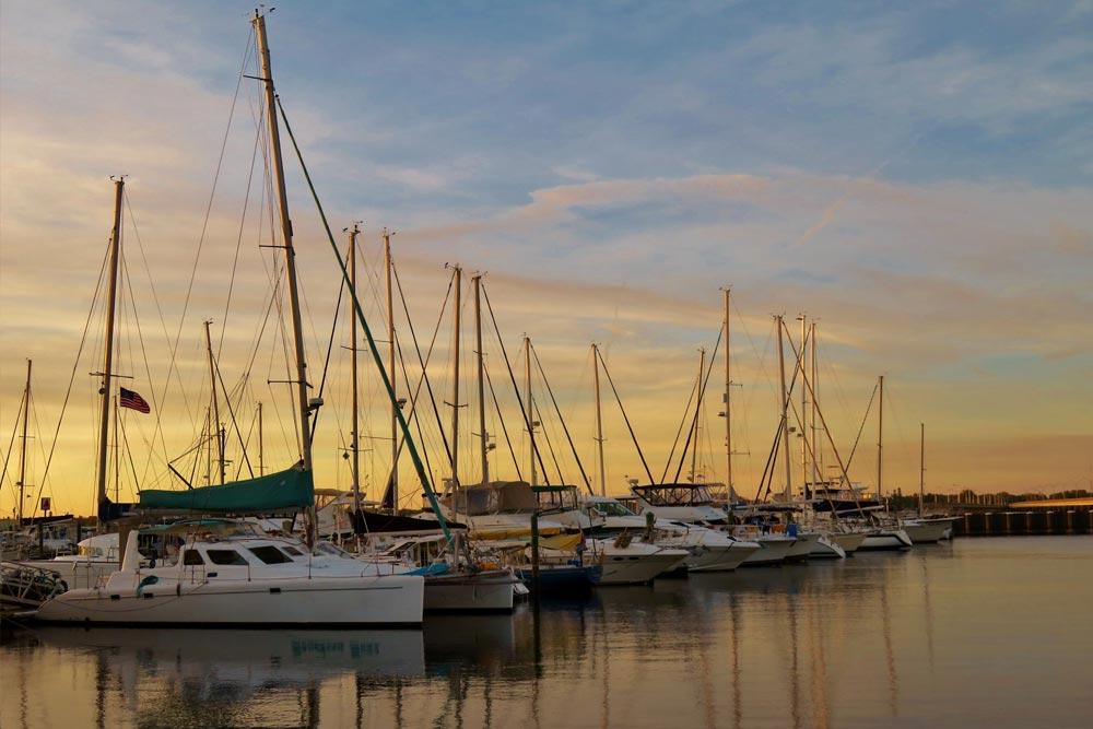 boats along bradenton dock
