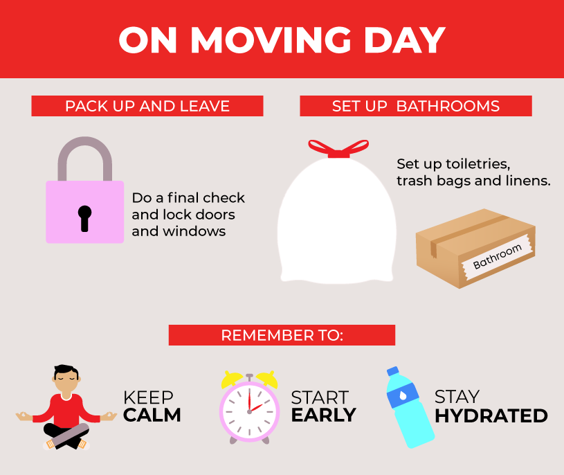 How to execute a successful moving day from start to finish.