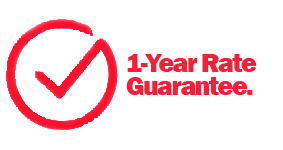 We guarantee your rate for a year.