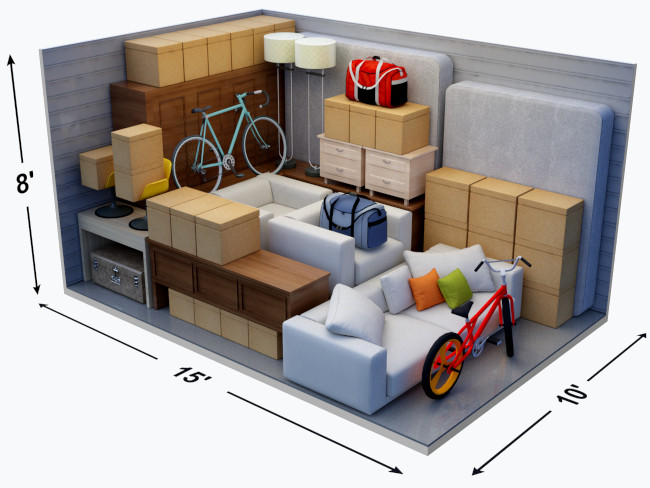What Can Fit in a 10' x 15' Storage Unit
