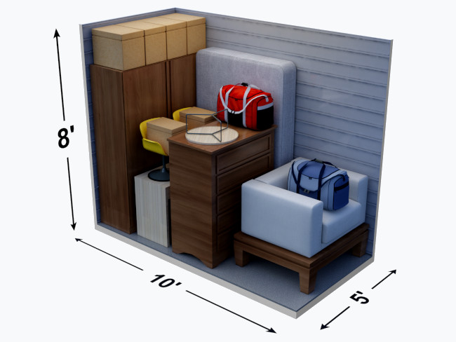 What Can Fit in a 5' x 10' Storage Unit