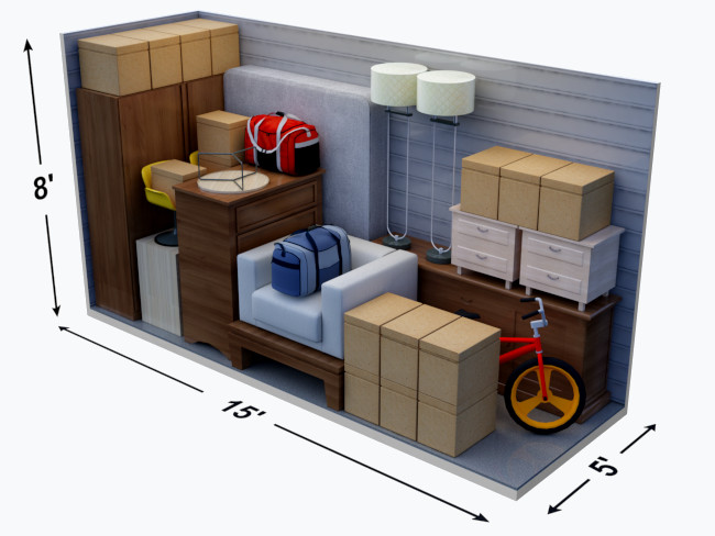 What Can Fit in a 5' x 15' Storage Unit